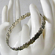 SALE Taxco Sterling Silver Bangle Bracelet 16.2 grams