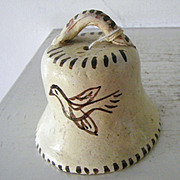 SALE Unusual Tlaquepaque Mexican Pottery Bell