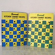 SALE Sunset Kitchen Cabinet Recipes Volume 2 & Volume 3