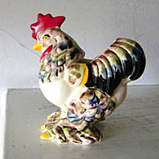 SALE Ceramic Rooster Planter