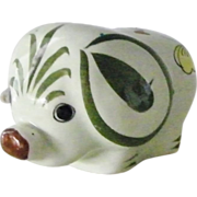 SALE Tonala Elephant Mexican folk art pottery Signed