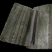 SALE Genuine Water Buffalo Checkbook Wallet  mint