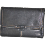 SALE Black Leather Fossil Wallet Removable ID Credit Card Holder