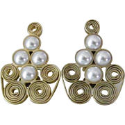 SALE Particolari Signed Couture Earrings made in Italy