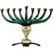 SALE New vintage Israeli Hanukkah Menorah 9 branch