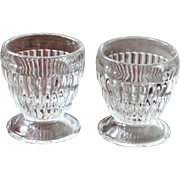 SALE Two vintage ribbed Sherbet Glasses