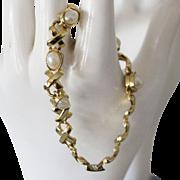 SALE Faux Pearl Goldtone Bracelet 7 inch