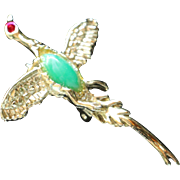 SALE Mallard Duck Bird Brooch