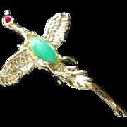 SALE Mallard Duck Bird Brooch
