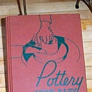 SALE Vintage Pottery Book 1939