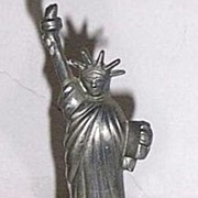 SALE Vintage Statue of Liberty Pewter Bell