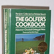 SALE Autographed Celebrity Golfer's Cook Book 1st Edition Foreword Bob Hope!