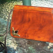 SOLD Lucite & Leather Saks 5th Avenue Handbag  French