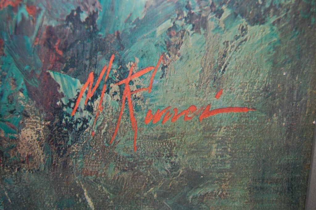 1970 Black Boy Huge Framed Print Signed M Runci From