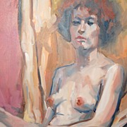 SALE Albert Herr ~ Nude Impressionist Oil Painting