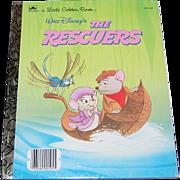 SALE 1977 Walt Disney ~ The Rescuers ~ Little Golden Book ~ Mint