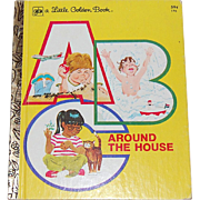 SALE 1978 ABC Around the House ~ A Little Golden Book