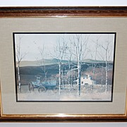 "SALE 1970s Hamilton ~ ""The Changing Season"" Framed Print"