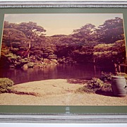 SALE 1960s LARGE Original Asian Zen Landscape Photograph ~ Framed