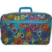 SALE 1960s Bantam ~ Mod Flower Power Suitcase