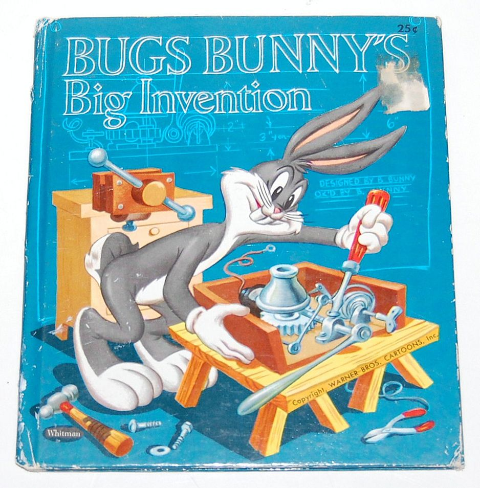 1953 Bugs Bunny S Big Invention Book From Kitschandcouture