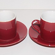 SALE Vintage Japanese Demitasse Cups & Saucers ~ Set of 2