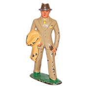 SALE 1930s Barclay ~ Man in Tan Suit Toy Figurine