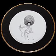 SALE Al Hirschfeld/ Bloomingdale's ~ Lena Horne Porcelain Collector's Plate