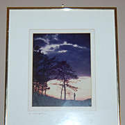 SALE 1960s 'An Evening Alone' Framed Photograph ~ Signed