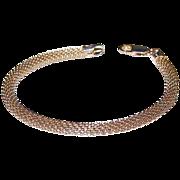 SALE Italian Sterling Silver Snake Mesh Bracelet