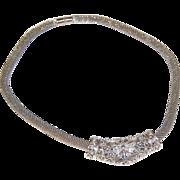 SALE 1950s Best ~ Silvertone Butterfly Slide Pendant Necklace