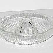 SALE Vintage Clear Pressed Glass Juice Reamer