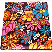 SALE 1960s Silver Port ~ Pop Art Floral Fabric Photo Album