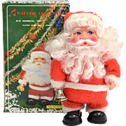 SALE 1970s Singing Christmas Santa w/ Original Box