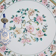 SALE Vintage T. Limoges ~ Rose Serving Platter w/ Original Tag