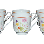SALE Set of 4 Mikasa Stratford Summer Melody Porcelain Cups ~ 2 Sets Available