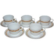 SALE Pyrex / Corelle Butterfly Gold 10-Pc Milk Glass Cup & Saucer Set