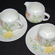 SALE Vintage Seyei ~ 5-Pc Cup, Saucer & Creamer China Set ~ Japan