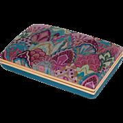 SALE 1960s Pop Art Purple & Turquoise Jewelry Travel Case