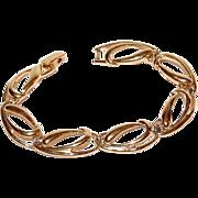 SALE TRIFARI Polished Goldtone Oval Link Bracelet