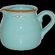 SALE Noritake Boulder Ridge Southwestern Style Turquoise Ceramic Creamer