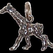 SALE Vintage Sterling Silver Circus Giraffe Charm