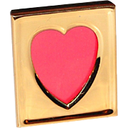 SALE 1980s Carr ~ Petite Solid Brass Heart Frame