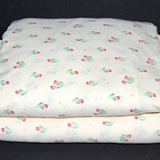 SOLD 1960/70s JP Stevens ~ Pink Tulip Twin Sheet Set - Red Tag Sale Item