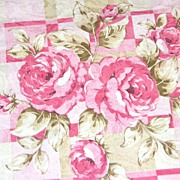 "SALE Vintage Pink Rose Damask Polyester Fabric ~ 36 x 45"" Bolt"