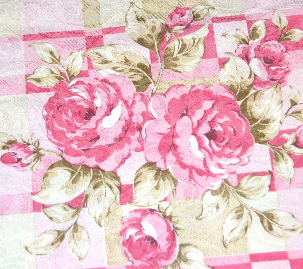 Vintage Pink Rose Damask Polyester Fabric 36 X 45 Quot Bolt