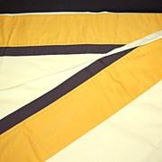 SALE 1970s Pequot ~ Mustard & Sunny Yellow Twin Flat Sheet