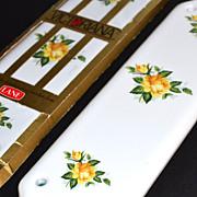 SALE 1970/80s Lane Hardware ~ Yellow Rose Push Plate