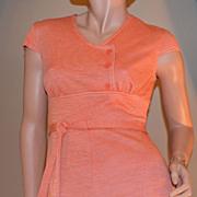 SALE 1960s Jerrell of Texas Orange Mini Dress
