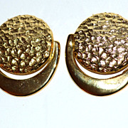 SALE VTG Hammered Goldtone Shoe Clips